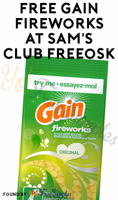 FREE Gain Fireworks Sample At Sam's Club Freeosk