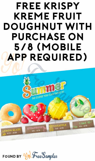 FREE Krispy Kreme Fruit Doughnut With Purchase On 5/8 (Mobile App Required)