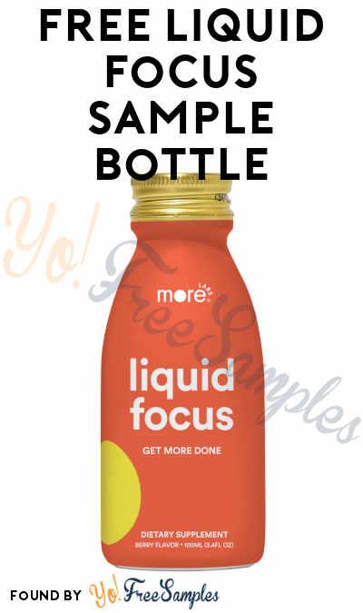 FREE Liquid Focus Sample Bottle