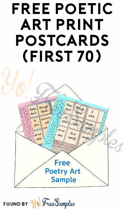 FREE Poetic Art Print Postcards (First 70)