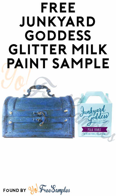 FREE Junkyard Goddess Glitter Milk Paint Sample