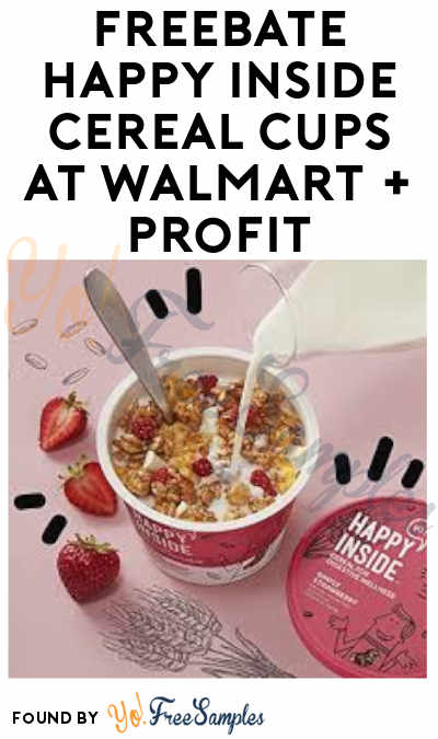 FREEBATE Happy Inside Cereal Cups at Walmart (Ibotta Required)