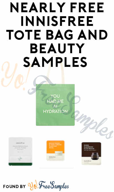 Nearly FREE Innisfree Tote Bag and Beauty Samples (Credit Card Required + Pay $5.95 Shipping)