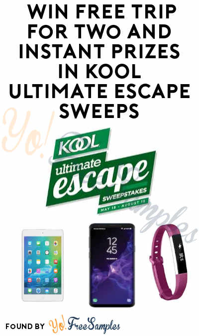 Enter Daily: Win FREE Trip for Two and Instant Prizes in KOOL Ultimate Escape Sweeps & Instant Wins (Ages 21 & Older)