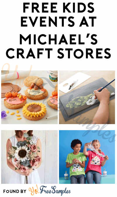 FREE June Kids Events at Michael's Craft Stores (Booking Required)