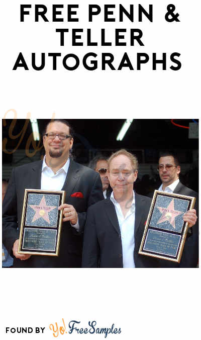 FREE Penn & Teller Autographs [Verified Received By Mail]