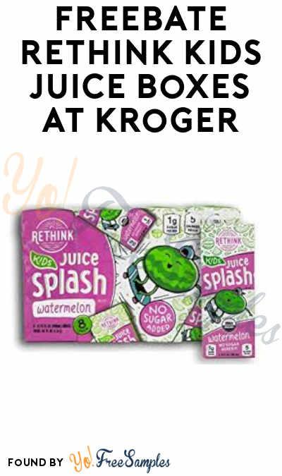 FREEBATE Rethink Kids Juice Boxes at Kroger + Profit (Ibotta Required)