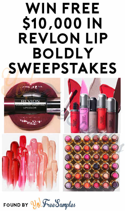 Enter Daily: Win FREE $10,000 and Lipsticks in Revlon Lip Boldly Sweepstakes