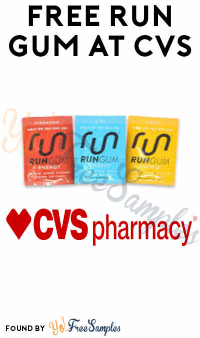 FREE Run Gum at CVS (Social Media Share Required & In-Store Only)