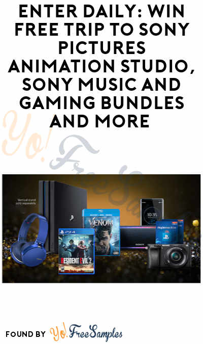 Enter Daily: Win FREE Trip to Sony Pictures Animation Studio, Sony Music + Gaming Bundles & More