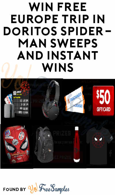 Enter Daily: Win FREE Europe Trip in Doritos Spider-Man Sweeps and Instant Wins