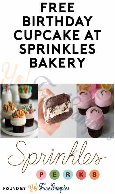 FREE Birthday Cupcake at Sprinkles Bakery