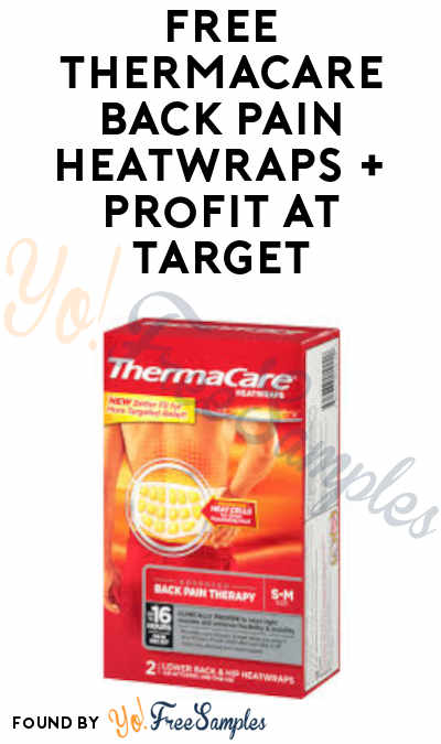 FREE ThermaCare Back Pain HeatWraps + Profit at Target (Cartwheel + Ibotta Required)