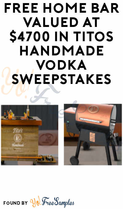 Enter Daily: Win FREE Home Bar Valued At $4,700 in Tito's Handmade Vodka Sweepstakes (Ages 21 And Older)