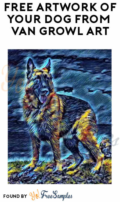 FREE Artwork of Your Dog from Van Growl Dog Digital Art (Facebook Required)