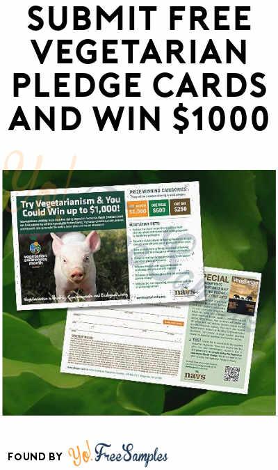 FREE Vegetarian Pledge Cards