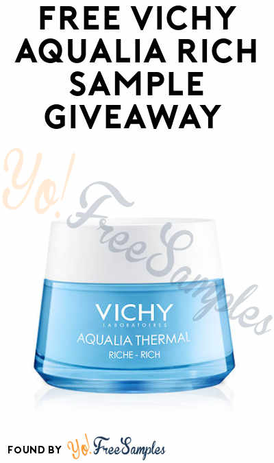 FREE Vichy Aqualia Rich Sample
