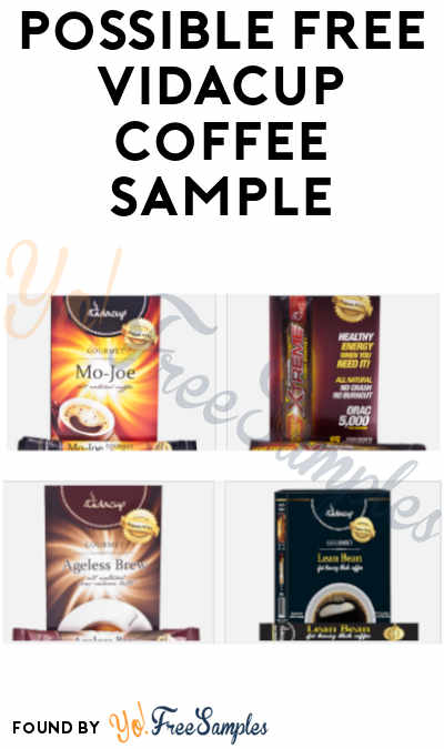 Possible FREE Vidacup Coffee Sample