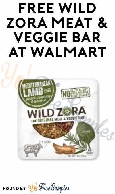 FREEBATE Wild Zora Meat & Veggie Bar at Walmart (Ibotta Required)