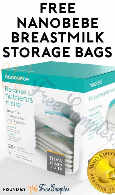 FREE Nanobebe Breastmilk Storage Bags