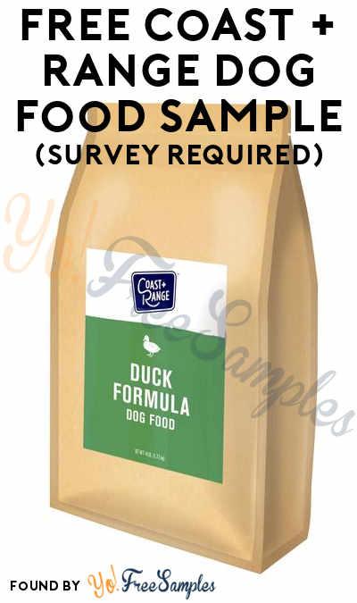 FREE Coast + Range Dog Food Sample (Survey Required)