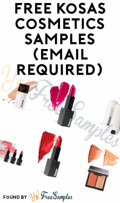 3 FREE Kosas Cosmetics Samples
