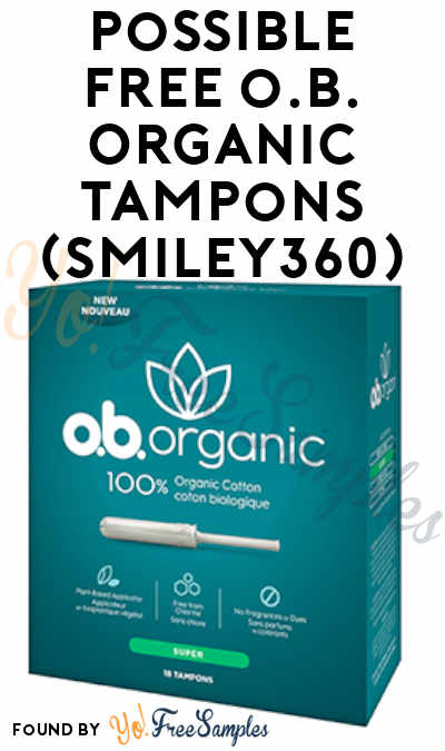Possible FREE o.b. Organic Tampons (Smiley360)
