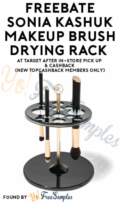 FREEBATE Sonia Kashuk Makeup Brush Drying Rack At Target After In-Store Pick Up & Cashback (New TopCashBack Members Only)