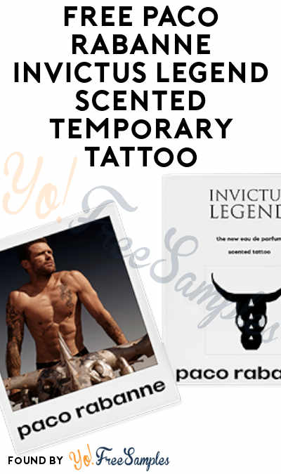 FREE Paco Rabanne Invictus Legend Scented Temporary Tattoo