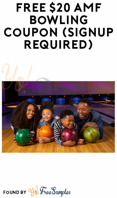 FREE $20 AMF Bowling Coupon (Signup Required)