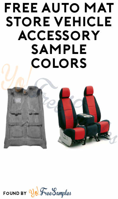 FREE Auto Mat Store Vehicle Accessory Sample Colors
