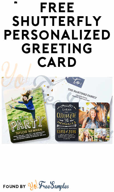 Nearly FREE Shutterfly Personalized Greeting Card (Pay Shipping)