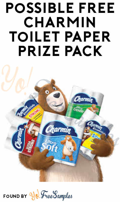 Possible FREE Charmin Toilet Paper Prize Pack (For Johns & Variants in Selected Cities)