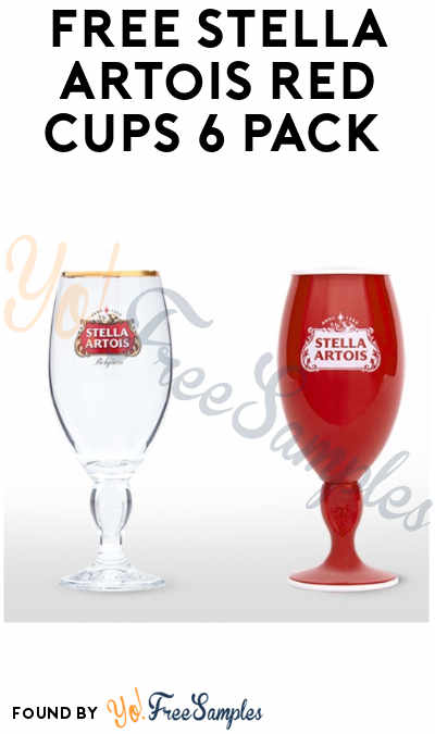 FREE Stella Artois Red Cups 6 Pack (Ages 21 & Older)