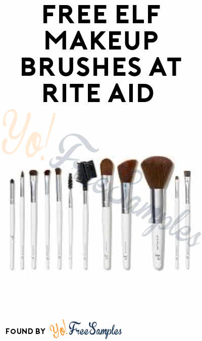 FREE E.L.F Makeup Brushes at Rite Aid (Rewards Card Required)