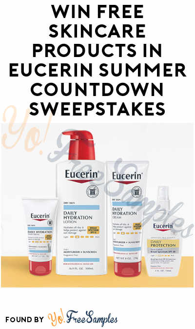 Enter Daily: Win FREE Skincare Products in Eucerin Summer Countdown Sweepstakes