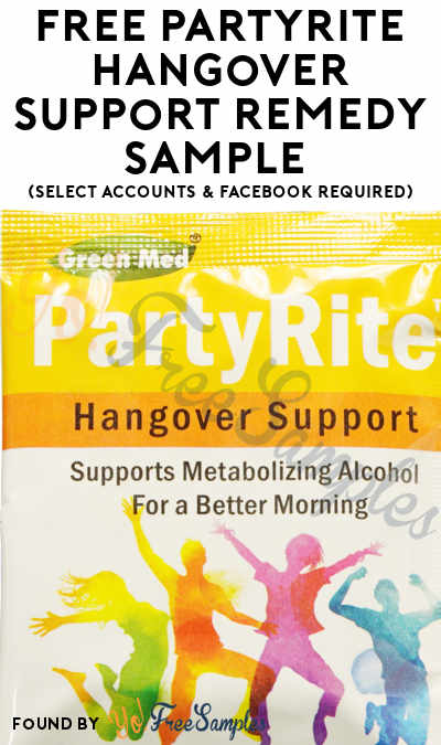 FREE PartyRite Hangover Support Remedy Sample (Select Accounts & Facebook Required & Desktop Mode Only)