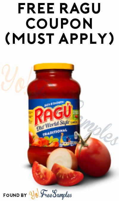 FREE Ragu Coupon Product From Viewpoints (Must Apply)