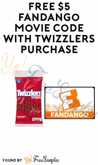 FREE $5 Fandango Movie Code with Twizzlers Purchase