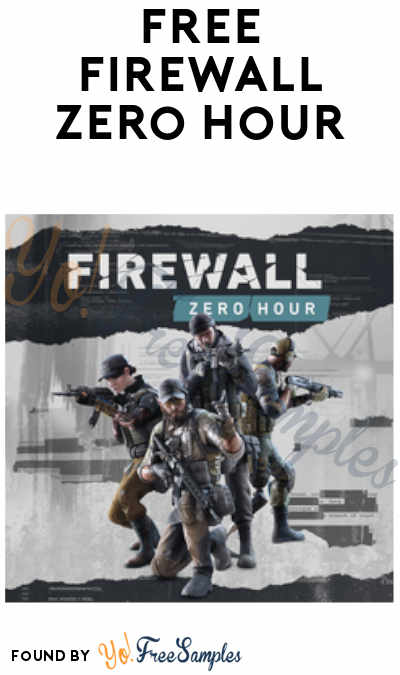 This Weekend Only: FREE Firewall Zero Hour Game (PS Plus Membership Required)