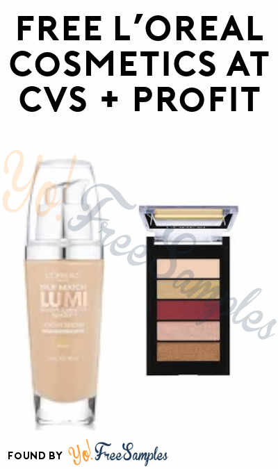 FREE L'Oreal True Match Lumi Foundation or Eyeshadow Palette at CVS + Profit (Rewards Card + Ibotta Required)