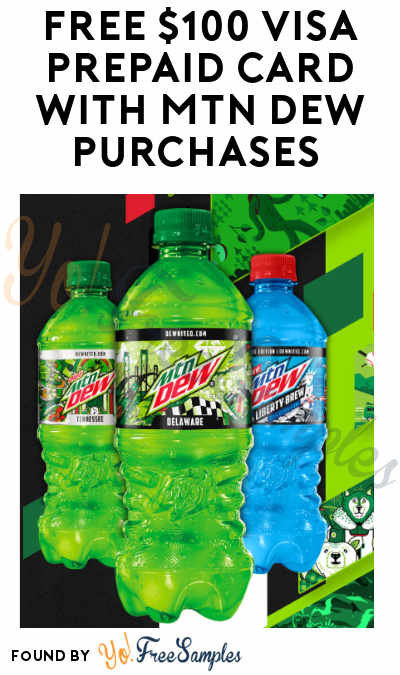 FREE $100 Visa Prepaid Card With Mtn Dew Purchases