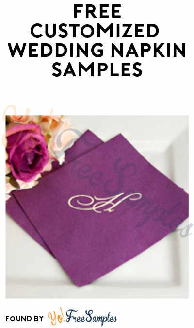 FREE Customized Wedding Napkin Samples