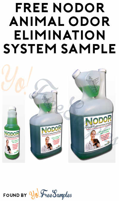 FREE Nodor Animal Odor Elimination System Sample
