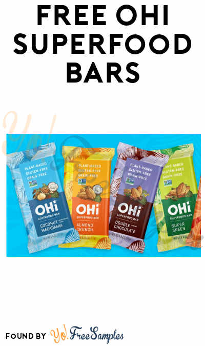 FREE OHi Superfood Single Bar