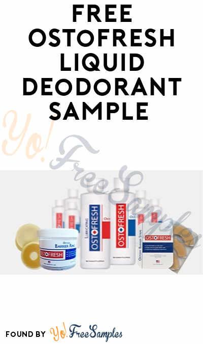 FREE Ostofresh Liquid Deodorant Sample