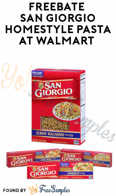 FREEBATE San Giorgio Homestyle Pasta at Walmart & Other Stores (Ibotta Required)