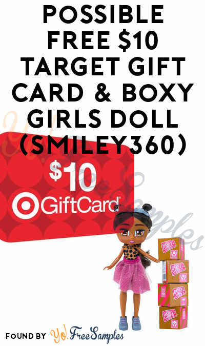 Possible FREE $10 Target Gift Card & Boxy Girls Doll (Smiley360)