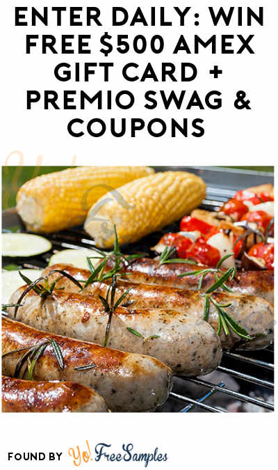 Enter Daily: Win FREE $500 American Express Gift Card + Premio Swag & Coupons