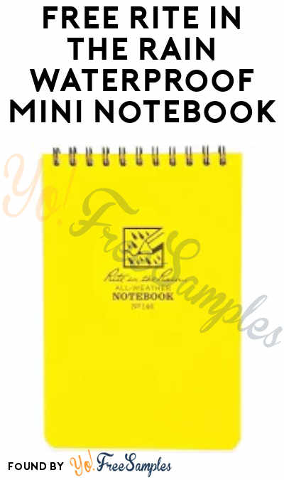 FREE Rite In The Rain Waterproof Mini Notebook (Short Survey Required)
